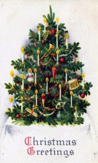 free-vintage-christmas-cards-with-decorated-tree